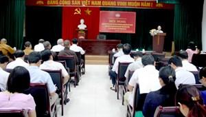 MTTQ tỉnh Thanh Hóa tập huấn công tác mặt trận năm 2016