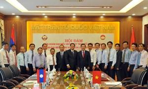 MTTQ Việt Nam hội đàm với Mặt trận Lào xây dựng đất nước
