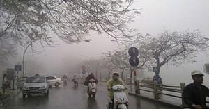 Mưa phùn và sương mù rải rác các tỉnh miền Bắc