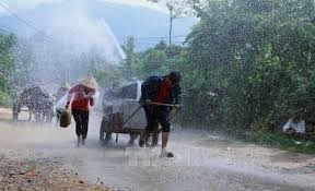 Cảnh báo mưa lớn, dông, lốc, sét, mưa đá, gió giật mạnh ở vùng núi Bắc Bộ