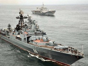 Nga-Nhật lần đầu tiên tập trận chung chống cướp biển