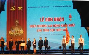 Ngành Thủy sản đón nhận Huân chương Lao động hạng Nhất