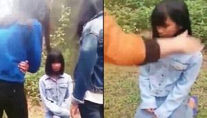 Nghệ An: Một nữ sinh lớp 7 bị bạn bắt quỳ để đánh hội đồng