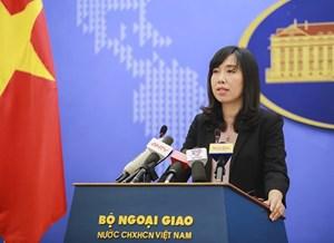 Người phát ngôn trả lời về việc tàu Việt Nam tham gia diễn tập ASEAN - Trung Quốc