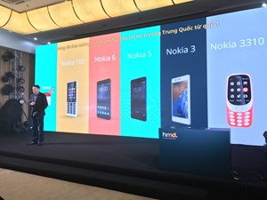 Nokia trở lại thị trường Việt Nam với 4 dòng điện thoại giá rẻ