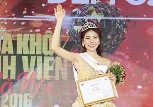 Nữ sinh VH-NT quân đội đăng quang Hoa khôi sinh viên Hà Nội