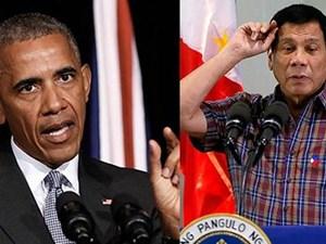 Ông Obama lần đầu chạm mặt ông Duterte sau khi bị lăng mạ