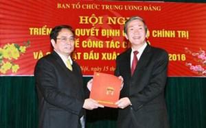 Ông Phạm Minh Chính giữ chức Trưởng Ban Tổ chức TW