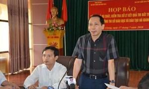 Cảnh cáo Phó Chủ tịch UBND tỉnh và nguyên Giám đốc Sở GDĐT Hà Giang