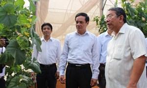 Phó Chủ tịch Lê Bá Trình và Đoàn giám sát liên ngành làm việc tại Đồng Nai