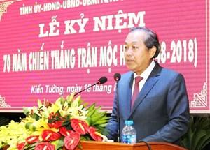 Phó Thủ tướng Trương Hòa Bình dự kỷ niệm 70 năm chiến thắng Mộc Hóa