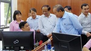 Phó Thủ tướng Trương Hòa Bình kiểm tra thực tế công tác CCHC ở Quảng Nam
