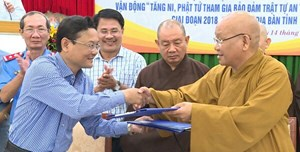 Phối hợp tuyên truyền ATGT trong Tăng, Ni, Phật tử
