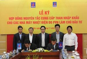 PVN ký kết hợp đồng nguyên tắc cung cấp than cho các nhà máy nhiệt điện