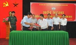 Quảng Bình: Chương trình phối hợp giữa Mặt trận tỉnh với các sở, ngành phải thiết thực, hiệu quả