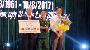 Quảng Nam: Gần 750 triệu trao tặng Hội nạn nhân chất độc da cam/dioxin