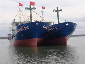 Quảng Nam: Hạ thủy đôi tàu vỏ thép trên 32 tỷ đồng