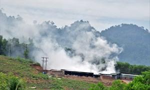 Quảng Nam: Một cơ sở sấy cau gây ô nhiễm