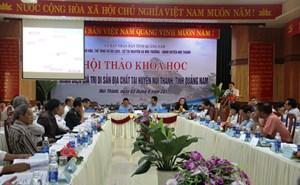 Quảng Nam: Nhận diện giá trị di sản địa chất tại huyện Núi Thành