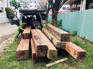 Quảng Nam: Phát hiện xe ô tô vận chuyển 12 phách gỗ lậu