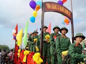 Quảng Nam, Quảng Ngãi: Gần 5.000 thanh niên lên đường nhập ngũ