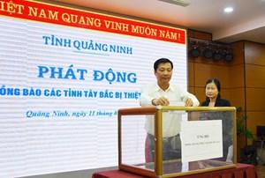 Quảng Ninh ủng hộ hơn 2 tỷ đồng giúp đồng bào các tỉnh Tây Bắc