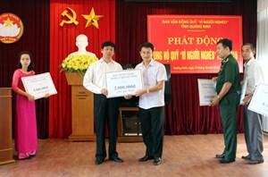 Quảng Ninh: Vận động trên 19 tỷ đồng Quỹ Vì người nghèo
