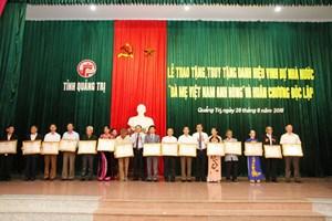 Quảng Trị: Trao tặng và truy tặng danh hiệu Bà mẹ Việt Nam anh hùng