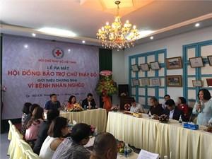 Ra mắt Hội đồng bảo trợ hoạt động Chữ thập đỏ