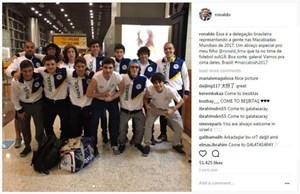 Ro 'béo' sung sướng khi con trai lên tuyển U18 Brazil