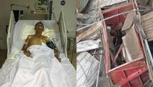 Rơi thang vận từ tầng 5, một người bị thương nặng