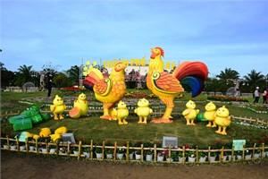 Sản phẩm nhà nông trưng bày tại TP Tam Kỳ dịp Tết