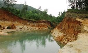 Sạt lở nặng hồ chứa ở Quảng Nam: Lúa, hoa màu thiếu nước