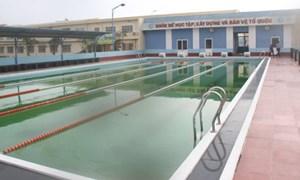 Tăng cường xây bể bơi trong trường học