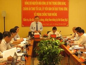 Tập trung khắc phục những tồn tại, hạn chế trong công tác phòng chống tham nhũng tại Quảng Ngãi