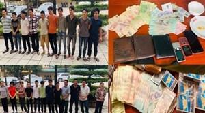 Thanh Hoá: Bắt 24 đối tượng đang đánh bạc