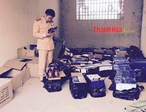 Thanh Hoá: Bắt 532 chai rượu ngoại không rõ nguồn gốc