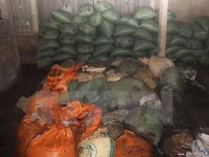 Thanh Hóa: Bắt giữ xe ôtô chở 13 tấn mỡ động vật không rõ nguồn gốc