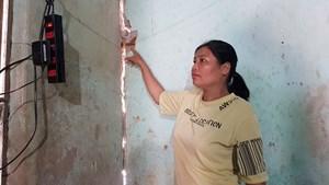 Thanh Hoá:  Dân phải sơ tán do nhà lún sụt