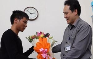Thêm một người đạp xe xuyên Việt cổ vũ và đăng ký hiến tạng