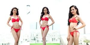 Thí sinh Hoa hậu Bản sắc Việt nóng bỏng với bikini