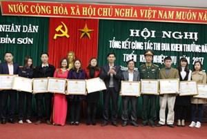 Thị xã Bỉm Sơn (Thanh Hoá): Khen thưởng 29 công dân tiêu biểu