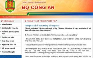 Thông báo về tổ chức khủng bố 'Việt tân'