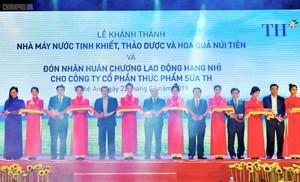 Thủ tướng dự lễ khánh thành nhà máy nước tinh khiết, thảo dược và hoa quả tại Nghệ An