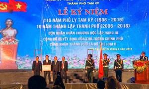 Thủ tướng dự Lễ kỷ niệm 110 năm Phủ lỵ Tam Kỳ