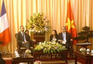 Thủ tướng Pháp muốn hợp tác nhiều hơn nữa với TP HCM