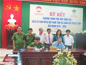 Thừa Thiên Huế: Mặt trận - Cảnh sát PCCC ký kết Chương trình phối hợp công tác.