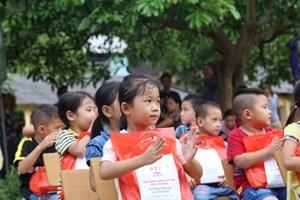 Niềm vui trước năm học mới của học sinh Cao Thượng