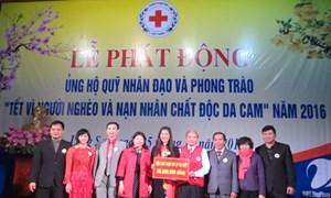 Tiếp nhận ủng hộ 'Tết vì người nghèo và nạn nhân chất độc da cam'