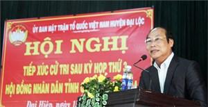 Tiếp xúc cử tri sau kỳ họp thứ 3, HĐND tỉnh Quảng Nam ở xã Đại Hiệp